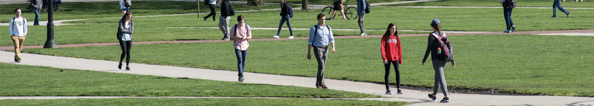 Ohio State student on the oval
